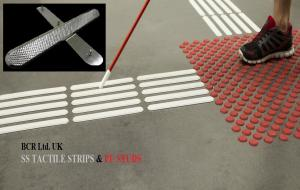 BCR TACTILE INDICATORS FOR VISUALLY IMPAIRED, SS TACTILE STRIP DIRECTIONAL MARKERS