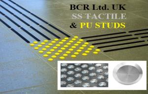 BCR TACTILE INDICATORS FOR VISUALLY IMPAIRED, SS TACTILE STUDS WARNING MARKERS