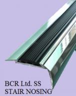 BCR STAIR NOSING WITH RUBBER ANTI SLIP INSERT