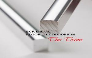 BCR FLOOR DIVIDING STRIP DUBAI UAE SUPPIER FOR ETISALAT DUBAI FLOOR DIVIDER SS / ALUMINIUM, BRUSH FINISHED