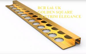 BCR SQUARE SHAPE GOLDEN TILE TRIM, HIGH QUALITY
