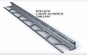 BCR L SHAPE SILVER BRIGHT FINISH TILE TRIM, LUXURY QUALITY