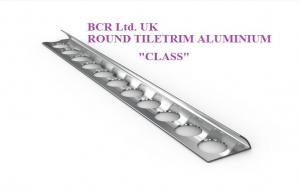 BCR ROUND SHAPE SILVER BRIGHT / MATT FINISH TILE TRIM, LUXURY QUALITY