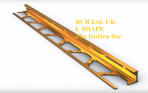 BCR L SHAPE GOLDEN BRIGHT / MATT FINISH TILE TRIM, LUXURY QUALITY