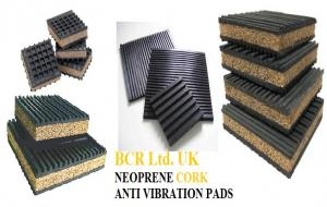 BCR ANTI VIBRATION PADS WITH NEOPRENE & CORK LAYERS