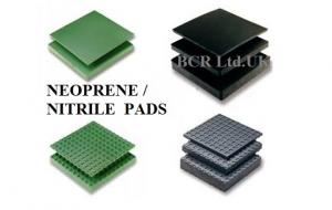 BCR NITRILE AND NEOPRENE RUBBER PADS FOR STRUCTURAL ELEMENTS