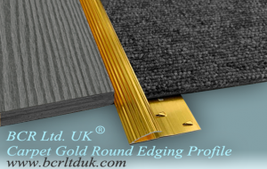 BCR Carpet trim Round edging metal profile