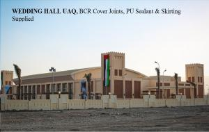 WEDDING HALL in UAQ, BCR Cover Joint, Sealant & Skirting Supplied