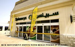 SPINNEYS SUPER MARKETS, BCR MOVEMENT JOINT USED IN FLOOR LIMITATION JOINTS
