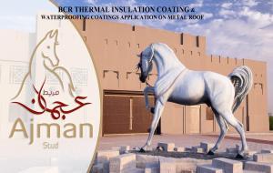 AJMAN STUD, BCR THERMAL INSULATION COATING ON METAL ROOF, UAE