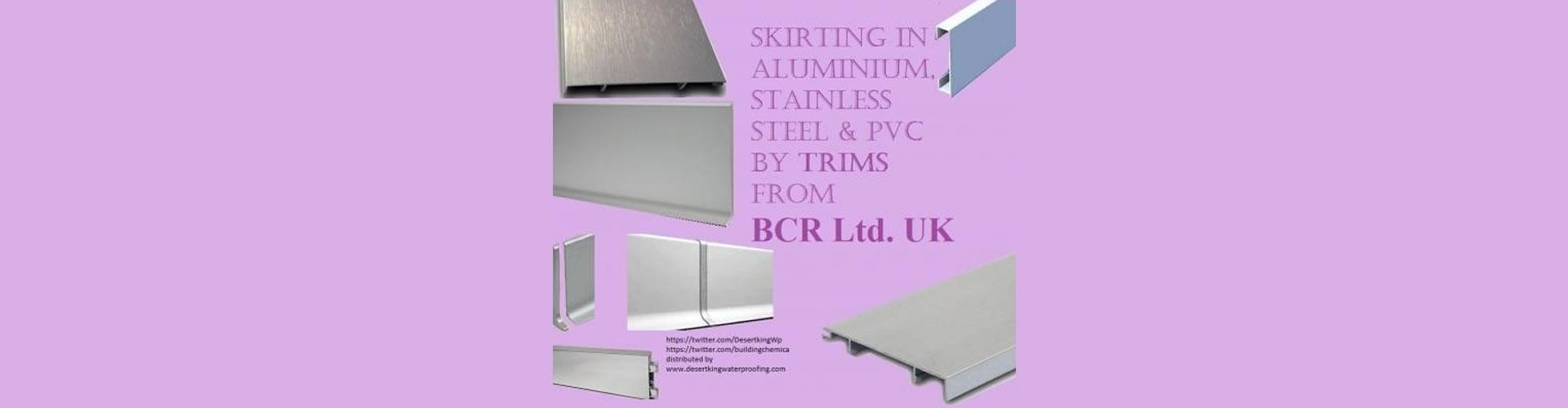 BCR Aluminium Skirting Range